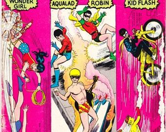 Teen Titans, 3rd comic book, KEY, Showcase 59. New Robin, the Kid Flash, Wonder Girl and Aqualad. Nick Cardy, 1965 DC Comics in VG+ (4.5)