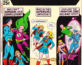 Super DC Giant S-24 DC Comics All Supergirl Issue Lex Luthor Superman  Bronze Age 1971 FN+ (6.5)