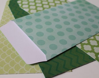 Handmade Textured Envelopes [Green Tones Set 1]