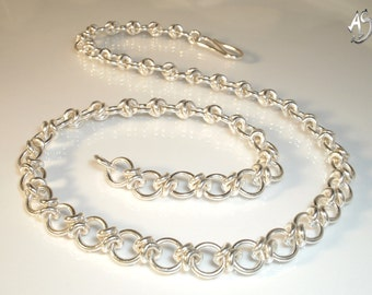 hand forged silver chain - MY BELOVED