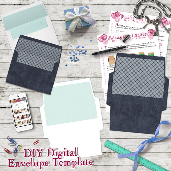 diy envelope template a7 5x7 envelope template digital. Black Bedroom Furniture Sets. Home Design Ideas