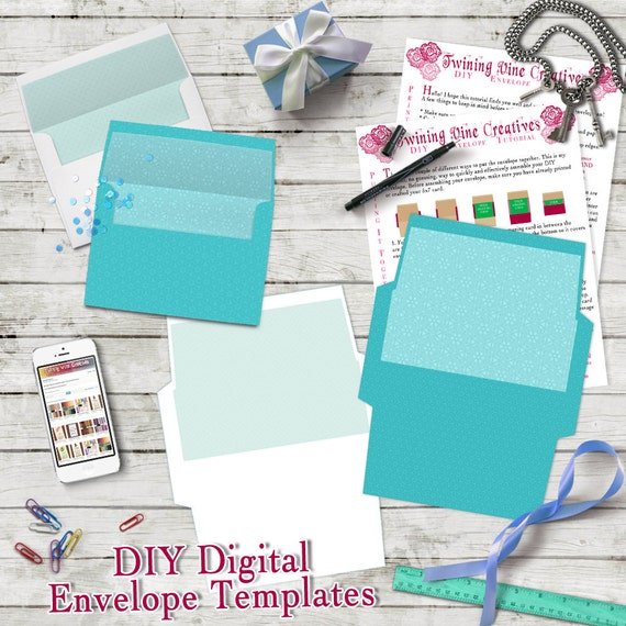 Diy Envelope Template A7 5X7 Envelope Template Digital