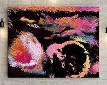 Multi-Color Ultrasound Art Canvas