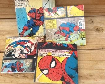 Spider-Man Coasters, Amazing Spiderman Coasters, Boyfriend Gift, Marvel Comic Book Coasters