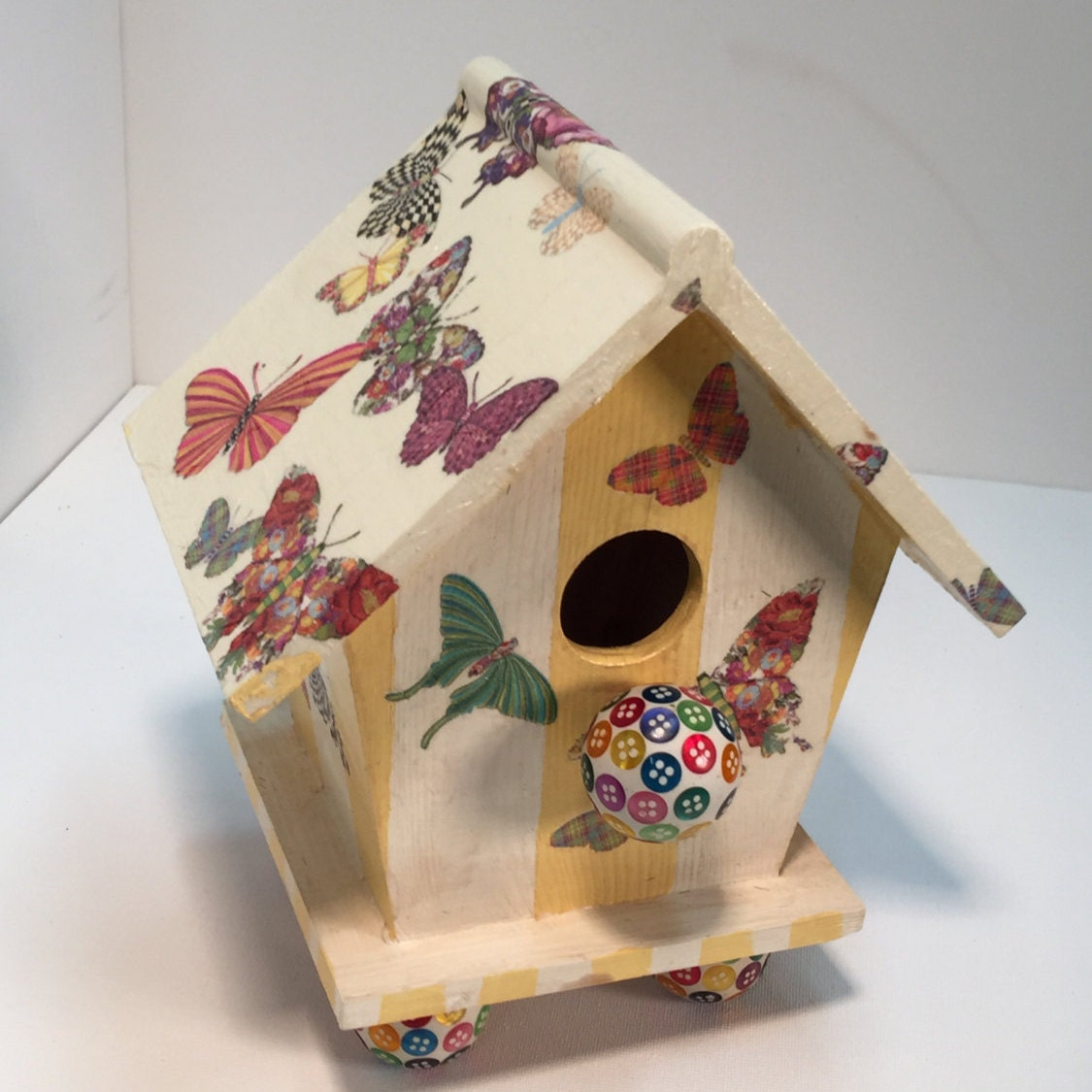 whimsical bird house by Katestwistedthystle on Etsy