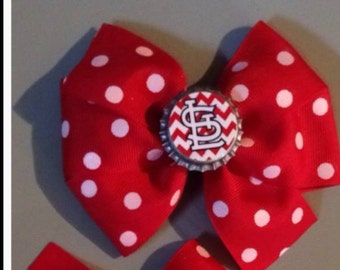 St Louis Cardinals Bottlecap Bow
