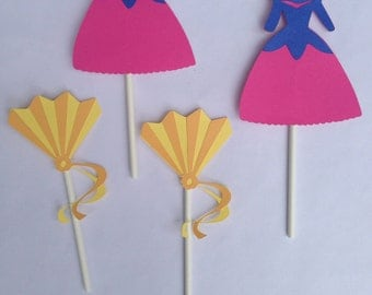 12 Mulan Cupcake Toppers