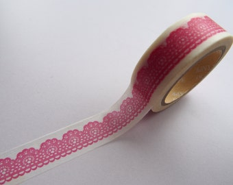50% OFF SALE! Cute Adorable Red Lace Japanese Washi Tape (Style D)