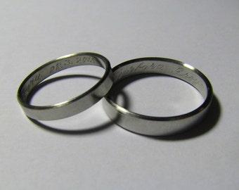 Wedding rings, Wedding bands, Stainless steel, Custom size