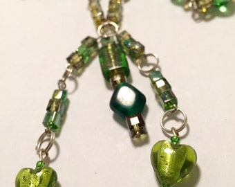 Extra Long Green Necklace