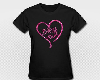 Bless Your Heart T Shirt Glitter Country Southern Girl Neon Glow In The Dark Workout Southern Pride Tee Custom Made