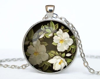 Flowers necklace Flower pendant Flower jewelry