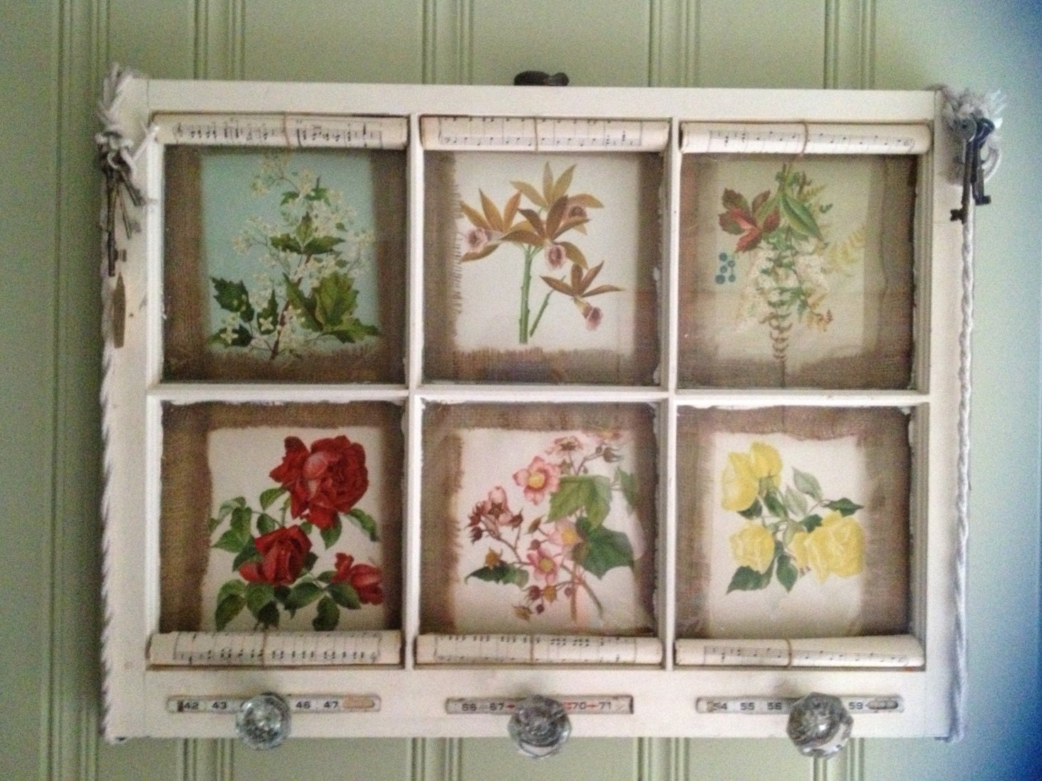 Vintage Window Wall Decor by TheBoozyBeacon on Etsy
