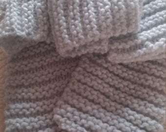 White Scarf, Knitted Scarf, Chunky Soft Knit Scarf, Winter Scarf