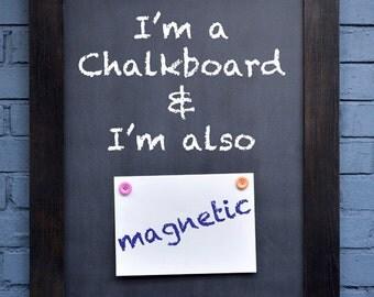 Reclaimed wood chalkboard- the MICHELIN MENU BOARD, made from Victorian oak & it's also magnetic!