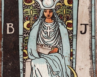 Major Arcana - The High Priestess Vintage Look Reproduction Metal Sign