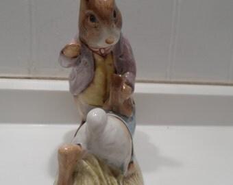 Mr. Benjamin Bunny& Peter Rabbit - Beatrix Potter Figurine