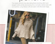 Vintage Bergere of France Cable Poncho Knitting Pattern, Instant PDF Download