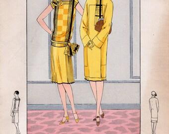 Vintage Fashion engraving - Les Créations Parisiennes - 1928