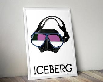 ICEBERG - poster print