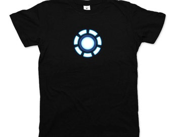 Iron Man arc reactor shirt Marvel Avengers comics cult Tony Stark Thor