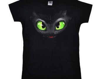 Inspired by toothless - Dragon ladies girlie T-Shirt - drawing painting Hicks Dragon Toothles