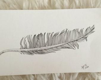 Original Drawing- Feather