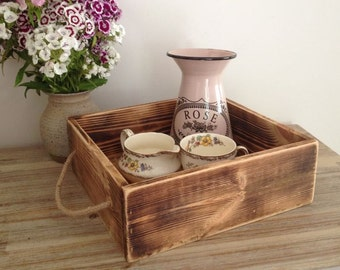 Small rustic serving tray, wooden tray, rustic tray, farmhouse style tray, tray