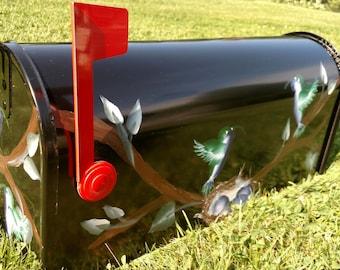 Hand Painted Mailbox w/ Hummingbirds