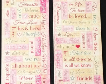 Miss Elizabeths Words From The Heart Sticker Sheet Double Sided Acid Free Lignin Free NEW