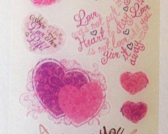 Miss Elizabeths Words from the Heart Vellum Sticker Sheet Single Sided Acid Free Lignin Free