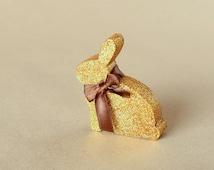 Gold glitter Bunny , Wedding Table Decoration , Wood Rabbit , Spring home decor , gold glitter wedding decoration