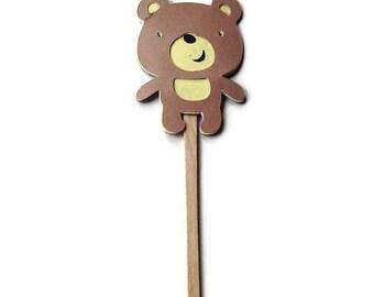 Cupcake Toppers, Bear Toppers, Teddy Bear Party, Bear Decor, Bear Birthday, Boy Baby Shower, Bear Baby Shower, Bear Die Cuts