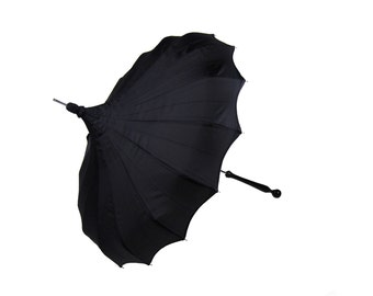 Gothic Black Parasol by Bella Umbrella - Rain or Shine