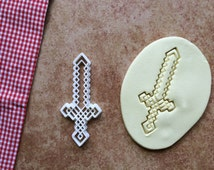 Zelda 8 bit Sword Cutter Cookie Zelda Cookie Cutters Cake Topper Party Birthday Gift -Not Sword Shirt Dress Link Hoodie Nintendo Pants