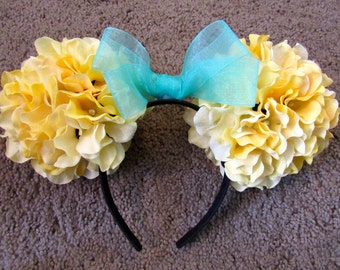 Mickey Flower Ears (Yellow and Blue)