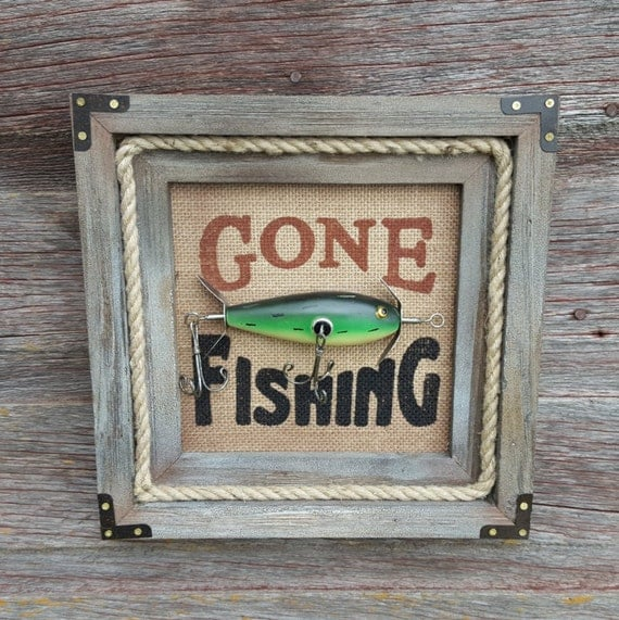 SALE Gone Fishing Sign...
