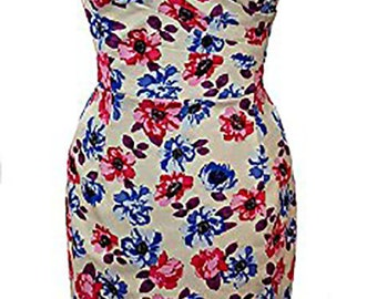 Elizabeth Stone, 1950's 'Mae' Rockabilly, Wiggle, Pin Up Pencil Halter neck Dress