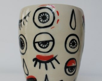 Spoopy Ceramic Eyeball Cup