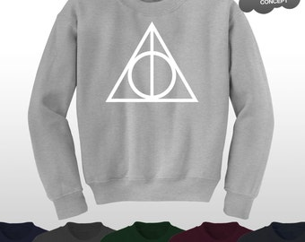 Deathly Hallows Jumper Top Sweater Harry Potter Sweatshirt The Logo Voldemort Triangle