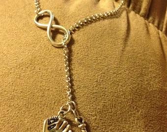 Infinity Baseball Necklace