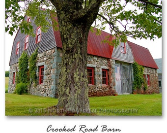 Crooked Road Barn - Fine Art Photography, Archival Photo Print, 5x7, 8x10, A6 Stationery