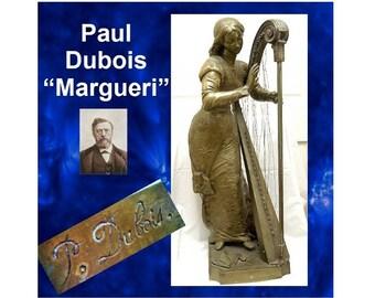 "Paul Dubios ""Margueri"" Bronze Sculpture"