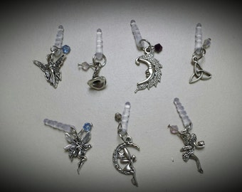 assorted cell phone charms