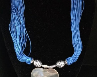 Moroccan Blue Sabra necklace