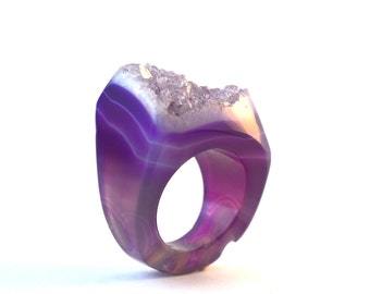 Size 7.75 Agate Ring