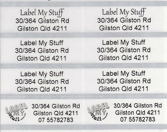 200 Transparent Personalised name / Address Labels - Large (46*15mm)