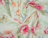 Shabby Chic Cotton Floral Print Fabric, Quilting, Dress Making, Destash 3 1/3 yds.