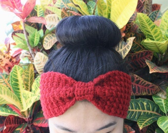 Bowtie Head Wrap / Ear Warmer