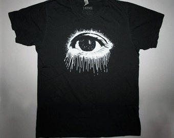 eye, t-shirt, for him, men's t-shirt, eye t shirt, cosmic eye t-shirt, occult t-shirt, mens graphic tee, 1AEON white Eye S-XXL